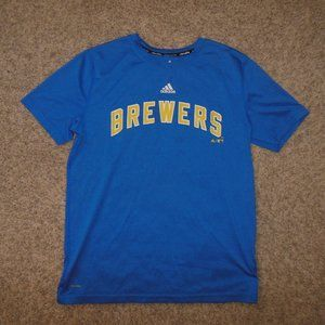 Brewers Adidas Large 14/16 Climalite Shirt